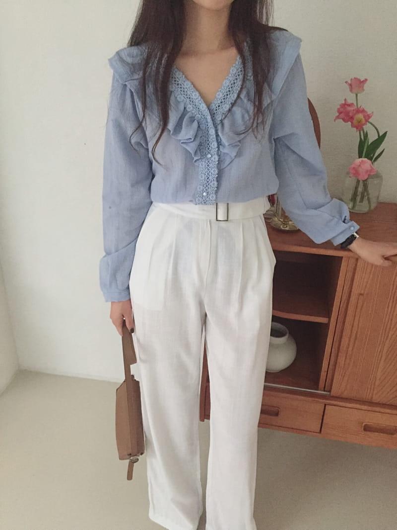 YES I LIKE YOU - Korean Children Fashion - #Kfashion4kids - Linen Belt Pants - 3
