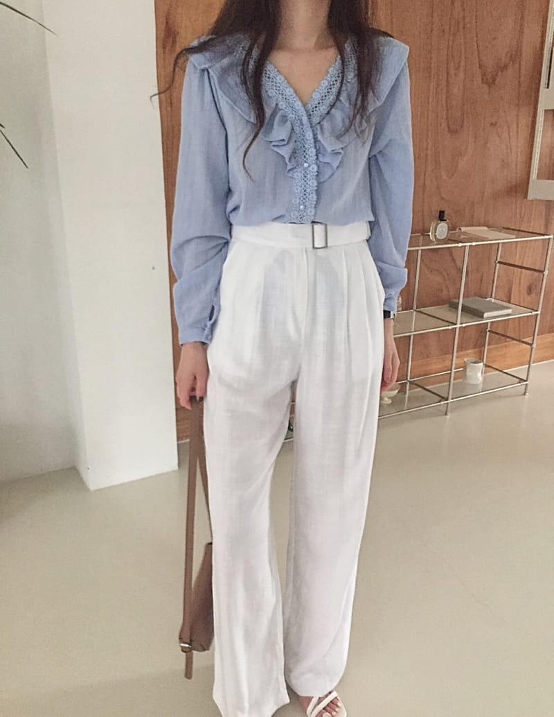 YES I LIKE YOU - BRAND - Korean Children Fashion - #Kfashion4kids - Linen Belt Pants