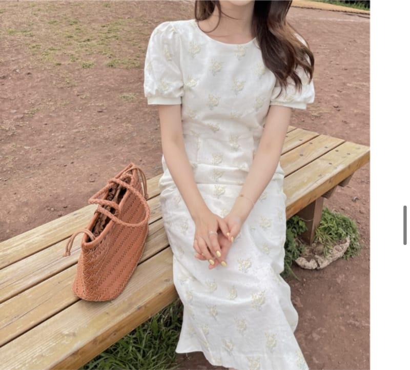 YES I LIKE YOU - Korean Children Fashion - #Kfashion4kids - Linen Flower One-piece - 2