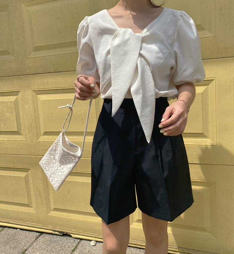 YES I LIKE YOU - Korean Children Fashion - #Kfashion4kids - Ribbon Blouse