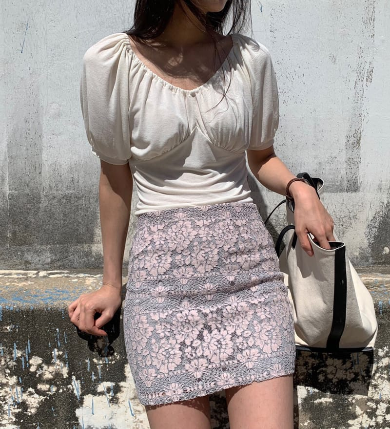 YES I LIKE YOU - Korean Children Fashion - #Kfashion4kids - Lace Two Tone Skirt