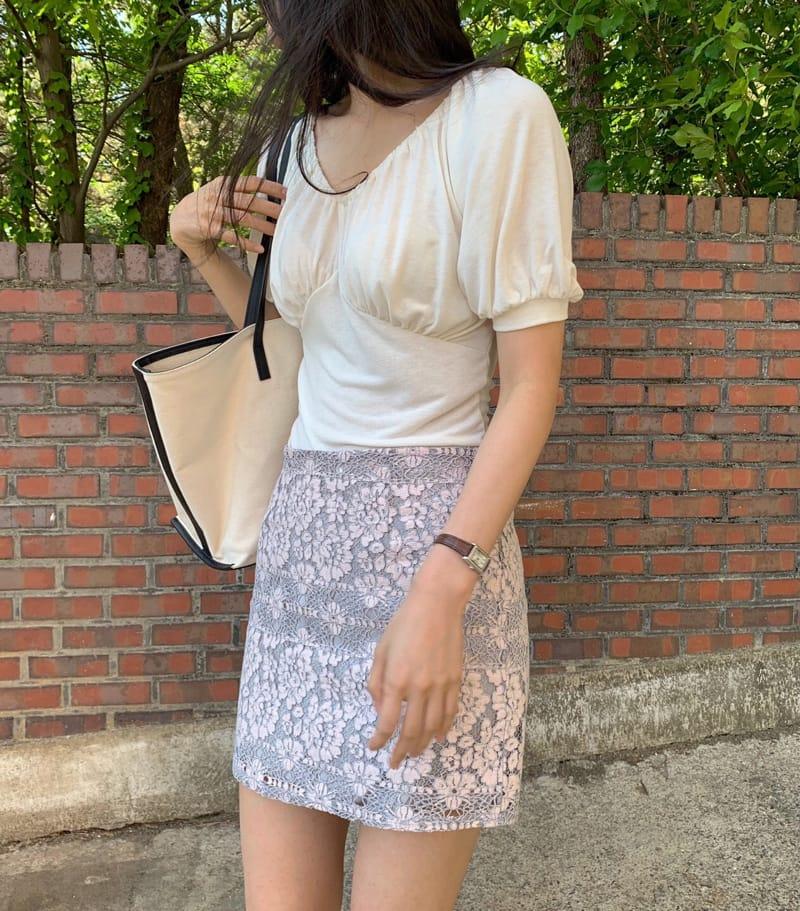 YES I LIKE YOU - Korean Children Fashion - #Kfashion4kids - Lace Two Tone Skirt - 4