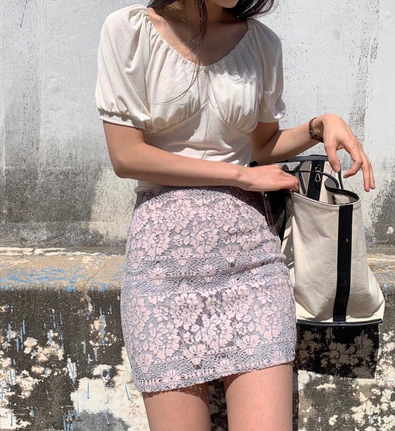YES I LIKE YOU - BRAND - Korean Children Fashion - #Kfashion4kids - Lace Two Tone Skirt