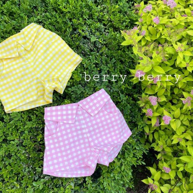 BERRY BERRY - BRAND - Korean Children Fashion - #Kfashion4kids - Check Shorts