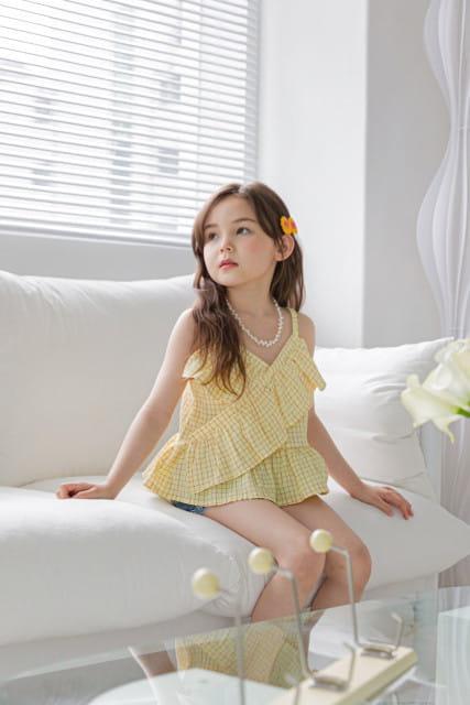 BERRY BERRY - BRAND - Korean Children Fashion - #Kfashion4kids - Square Sleeveless