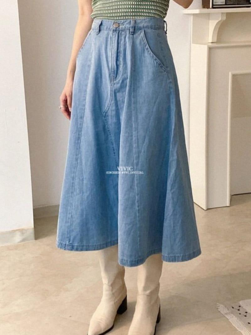 EVERYTHING WITH ME - Korean Children Fashion - #Kfashion4kids - Line Denim Skirt