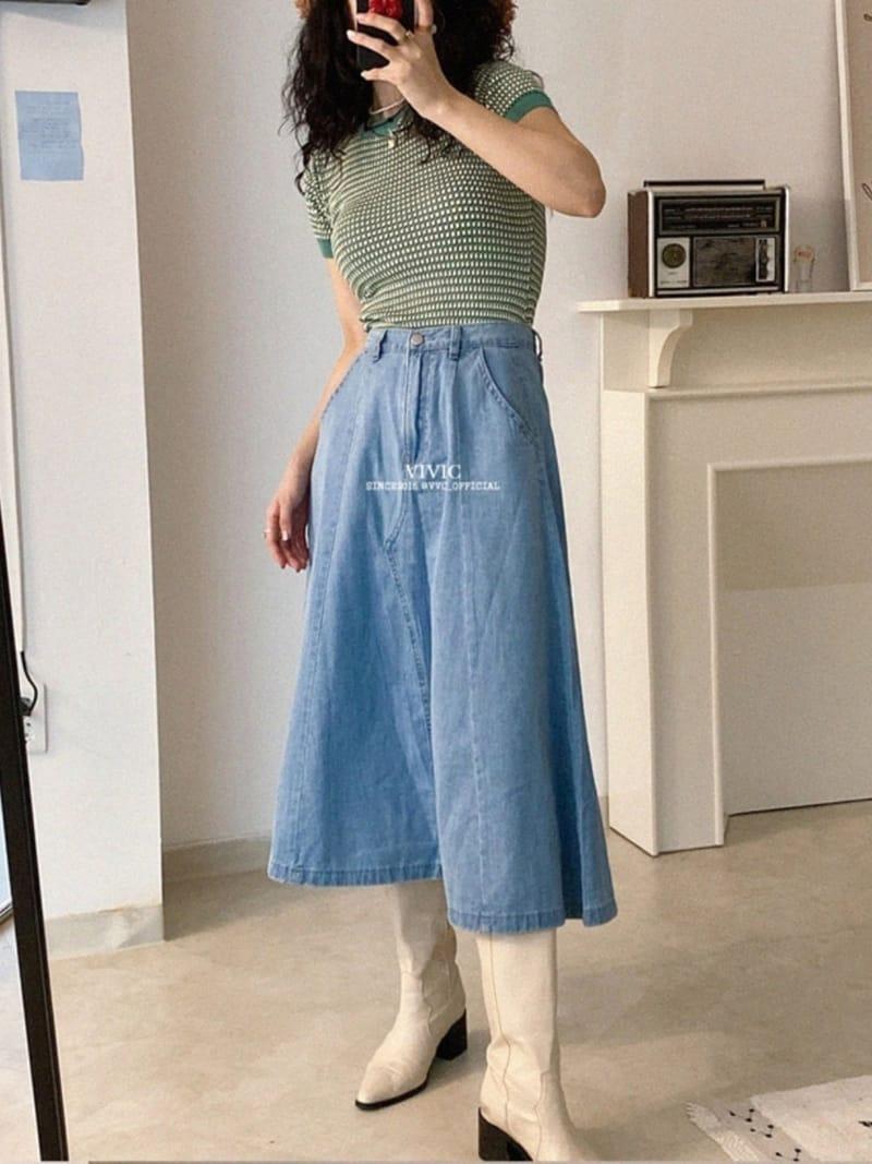 EVERYTHING WITH ME - Korean Children Fashion - #Kfashion4kids - Line Denim Skirt - 2