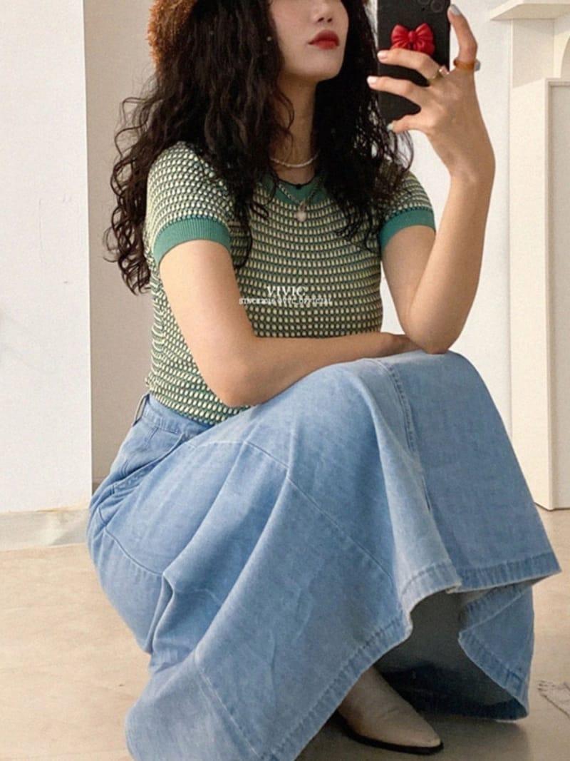 EVERYTHING WITH ME - Korean Children Fashion - #Kfashion4kids - Line Denim Skirt - 3