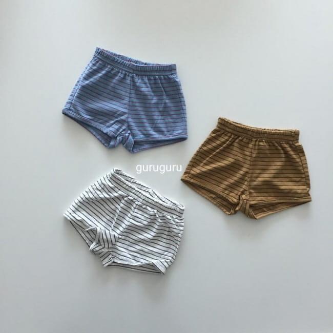 GURU GURU - Korean Children Fashion - #Kfashion4kids - Stripes Shorts - 2