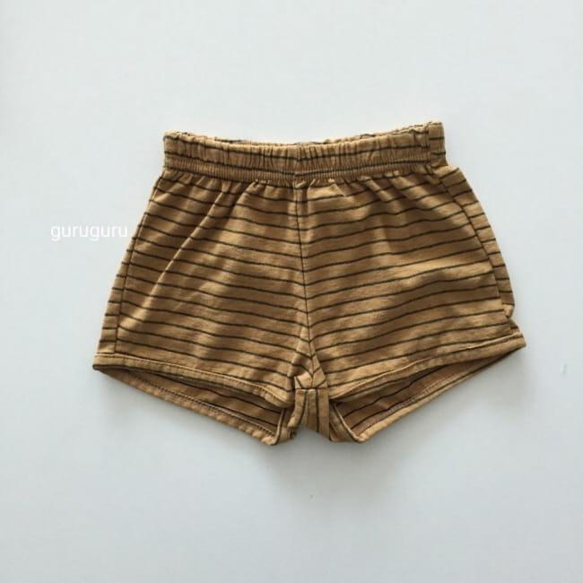 GURU GURU - Korean Children Fashion - #Kfashion4kids - Stripes Shorts - 5