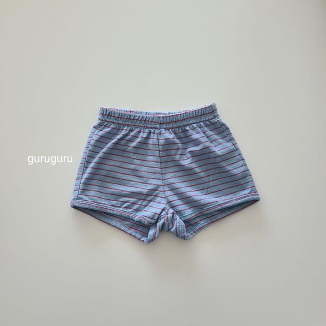 GURU GURU - Korean Children Fashion - #Kfashion4kids - Stripes Shorts - 9