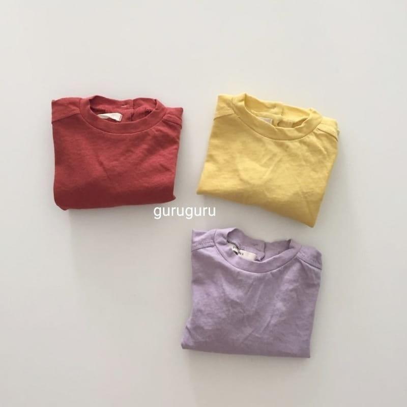 GURU GURU - Korean Children Fashion - #Kfashion4kids - Slit Button Tee