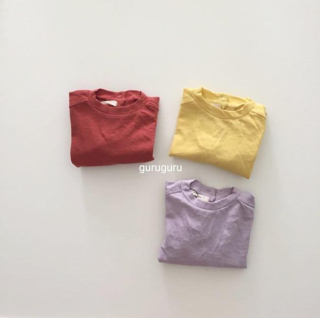 GURU GURU - Korean Children Fashion - #Kfashion4kids - Slit Button Tee - 10