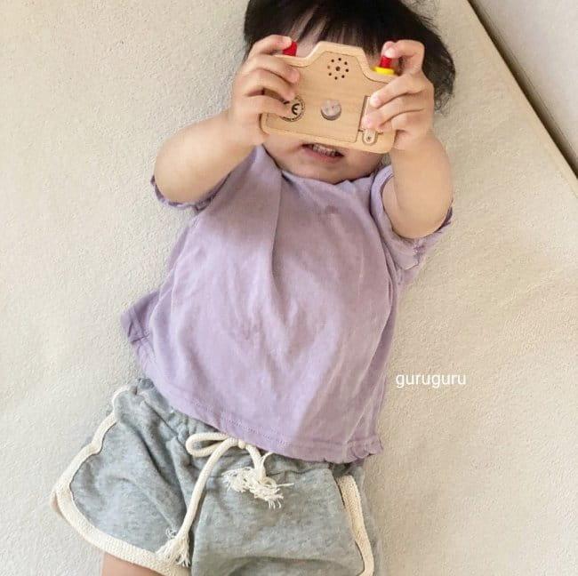 GURU GURU - Korean Children Fashion - #Kfashion4kids - Slit Button Tee - 2