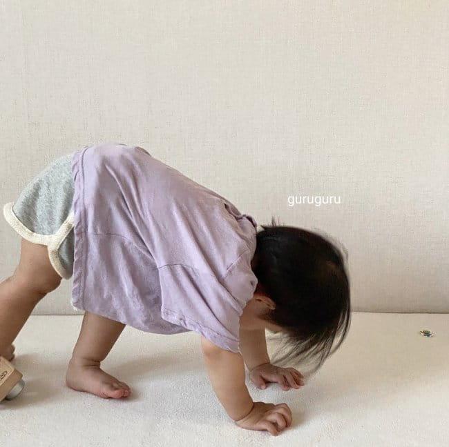 GURU GURU - Korean Children Fashion - #Kfashion4kids - Slit Button Tee - 3