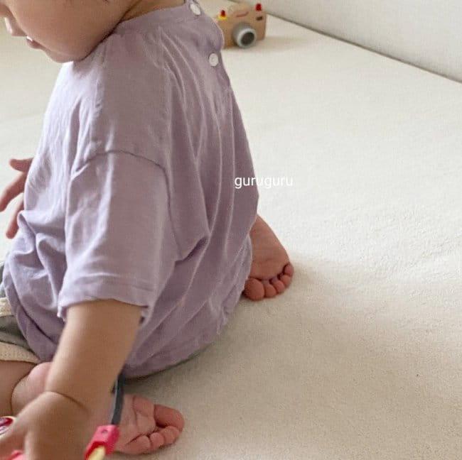 GURU GURU - Korean Children Fashion - #Kfashion4kids - Slit Button Tee - 4