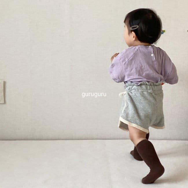 GURU GURU - Korean Children Fashion - #Kfashion4kids - Slit Button Tee - 5