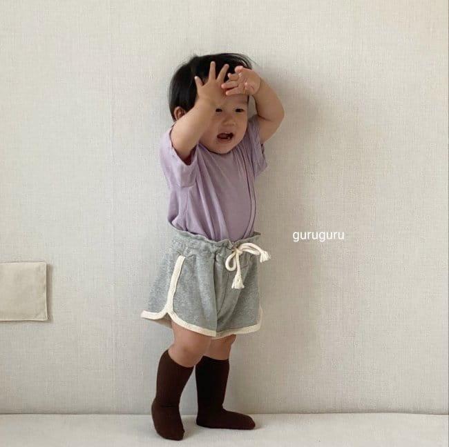 GURU GURU - Korean Children Fashion - #Kfashion4kids - Slit Button Tee - 6
