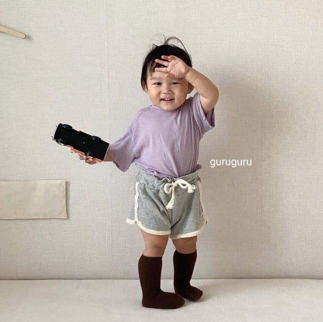 GURU GURU - Korean Children Fashion - #Kfashion4kids - Slit Button Tee - 8