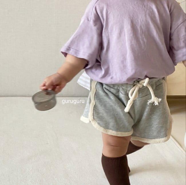GURU GURU - Korean Children Fashion - #Kfashion4kids - Slit Button Tee - 9