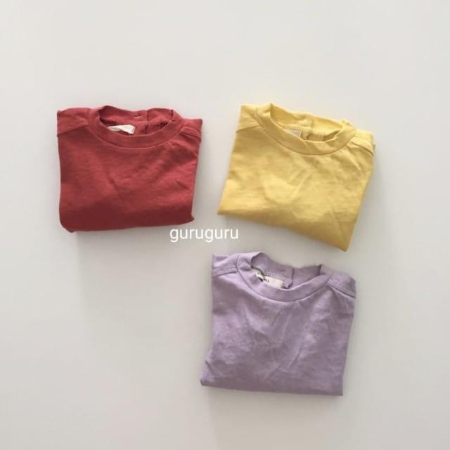 GURU GURU - BRAND - Korean Children Fashion - #Kfashion4kids - Slit Button Tee