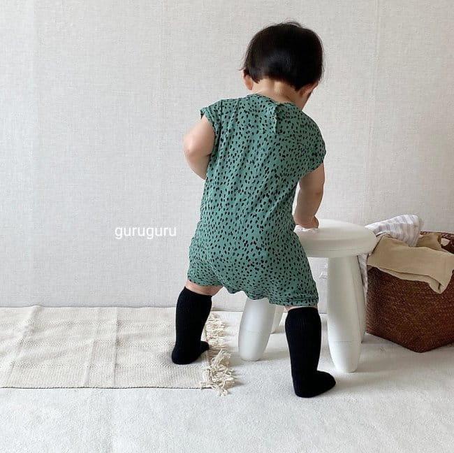 GURU GURU - Korean Children Fashion - #Kfashion4kids - Dots Bodysuit - 6