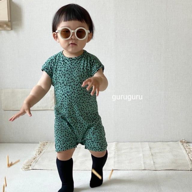 GURU GURU - BRAND - Korean Children Fashion - #Kfashion4kids - Dots Bodysuit