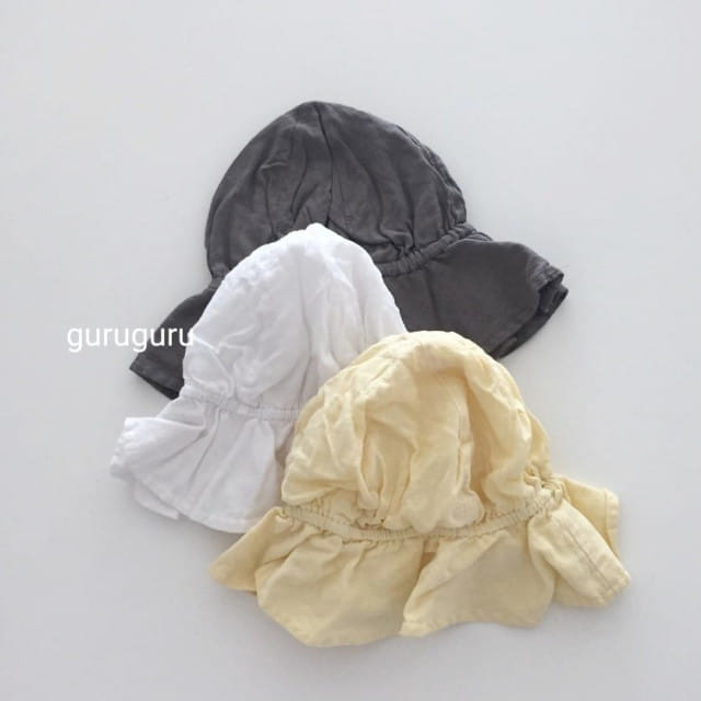 GURU GURU - BRAND - Korean Children Fashion - #Kfashion4kids - Linen Bucket Hat