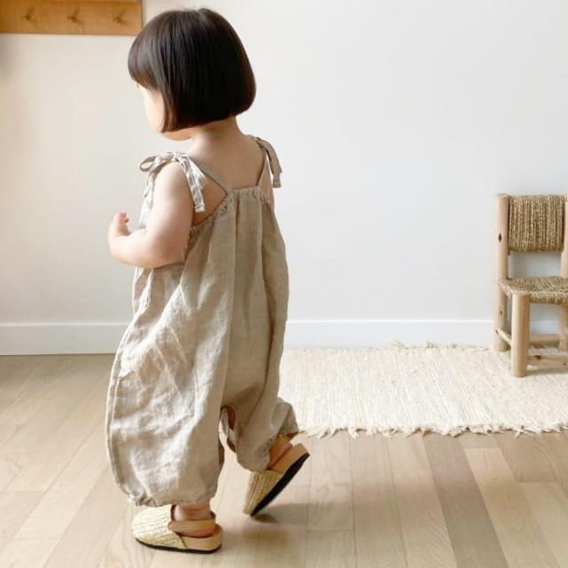 GURU GURU - BRAND - Korean Children Fashion - #Kfashion4kids - Linen String Bodysuit