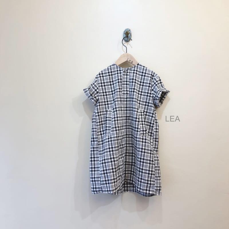 LEA ET MIEL - Korean Children Fashion - #Kfashion4kids - Black Check One-piece - 5