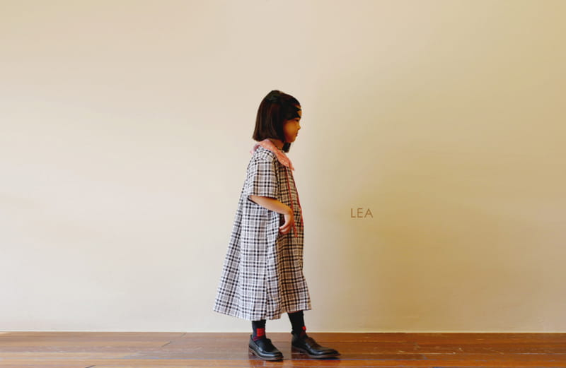 LEA ET MIEL - BRAND - Korean Children Fashion - #Kfashion4kids - Black Check One-piece