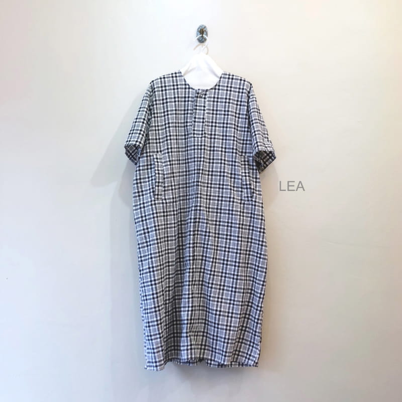 LEA ET MIEL - Korean Children Fashion - #Kfashion4kids - Mom Black Check One-piece - 2