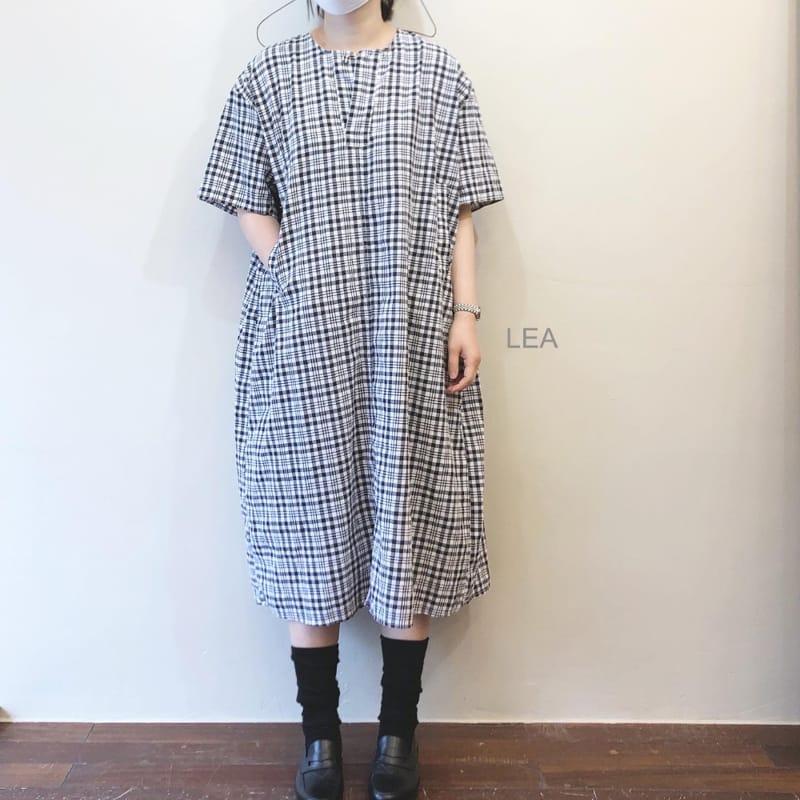 LEA ET MIEL - BRAND - Korean Children Fashion - #Kfashion4kids - Mom Black Check One-piece