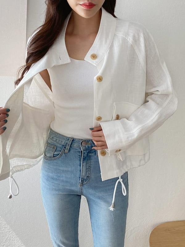 LOUISA - Korean Children Fashion - #Kfashion4kids - Siry Linen Jacket