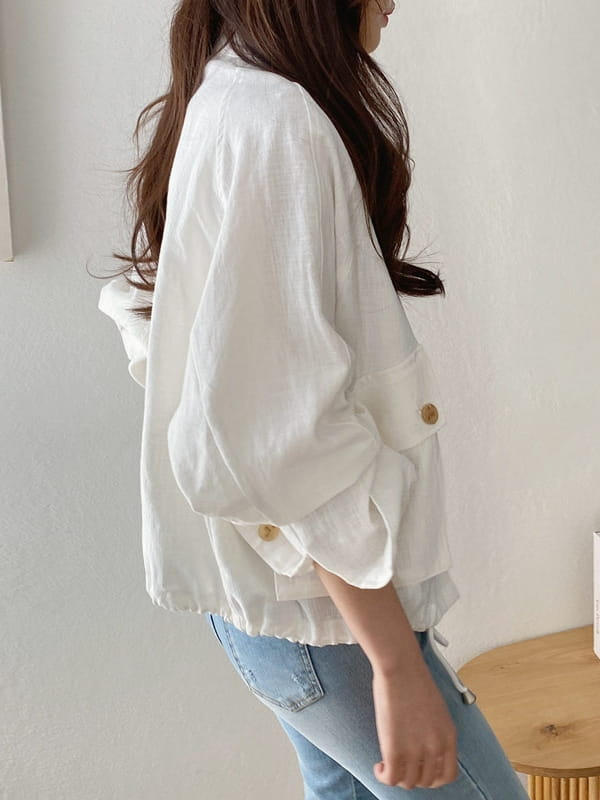 LOUISA - Korean Children Fashion - #Kfashion4kids - Siry Linen Jacket - 3