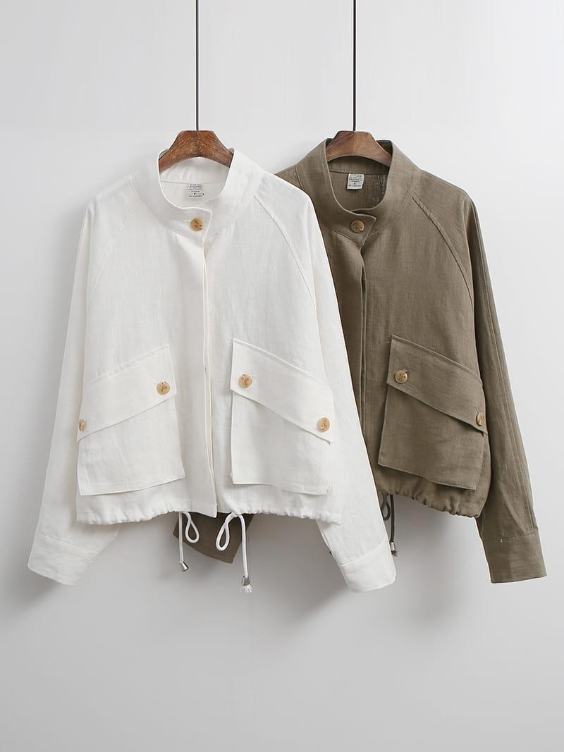 LOUISA - Korean Children Fashion - #Kfashion4kids - Siry Linen Jacket - 4
