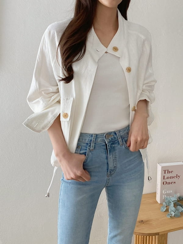 LOUISA - BRAND - Korean Children Fashion - #Kfashion4kids - Siry Linen Jacket