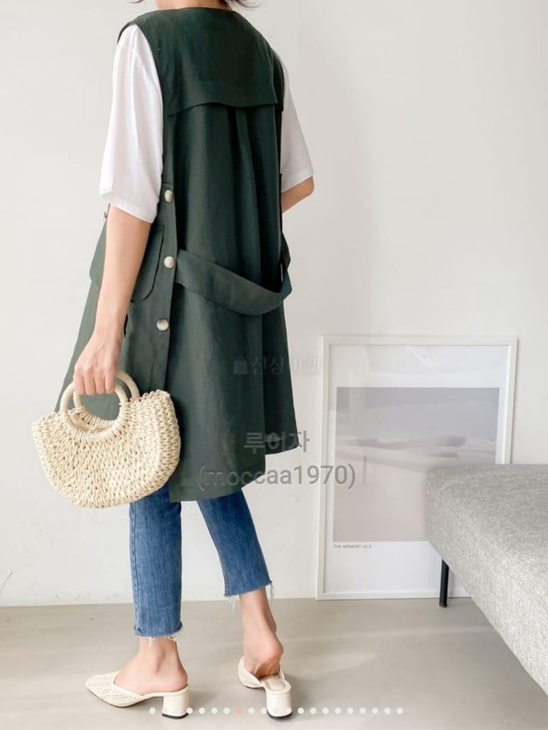 LOUISA - Korean Children Fashion - #Kfashion4kids - Hand Linen Vest