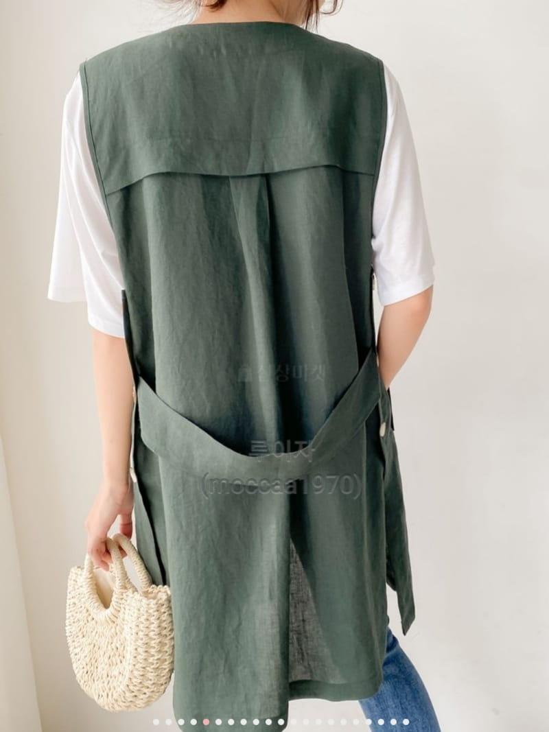 LOUISA - Korean Children Fashion - #Kfashion4kids - Hand Linen Vest - 2