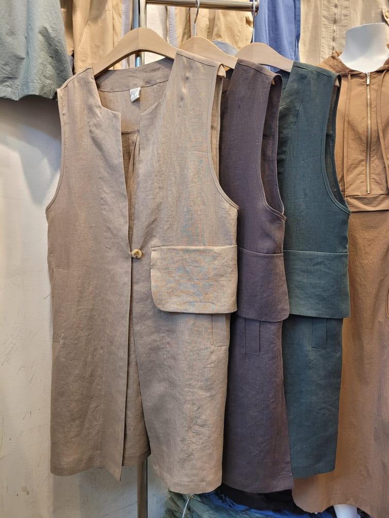 LOUISA - Korean Children Fashion - #Kfashion4kids - Hand Linen Vest - 4