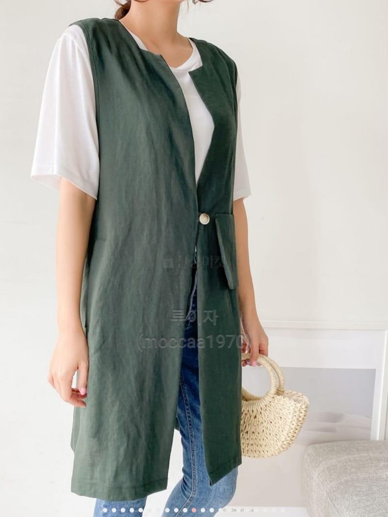 LOUISA - BRAND - Korean Children Fashion - #Kfashion4kids - Hand Linen Vest