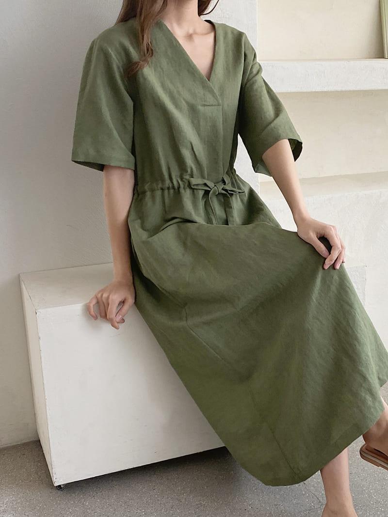 LOUISA - Korean Children Fashion - #Kfashion4kids - Mac La Linen One-piece