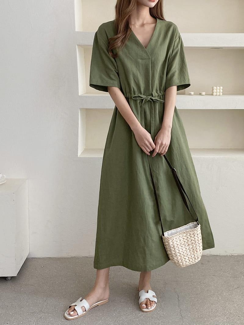 LOUISA - Korean Children Fashion - #Kfashion4kids - Mac La Linen One-piece - 2