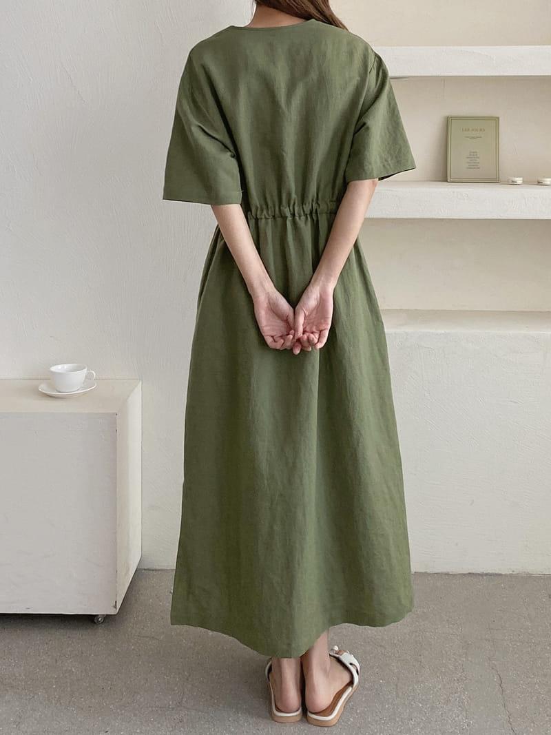 LOUISA - Korean Children Fashion - #Kfashion4kids - Mac La Linen One-piece - 3