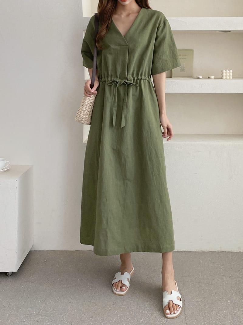 LOUISA - BRAND - Korean Children Fashion - #Kfashion4kids - Mac La Linen One-piece