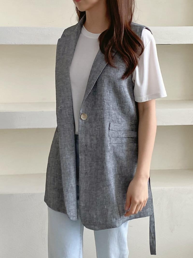 LOUISA - Korean Children Fashion - #Kfashion4kids - Le Gi Linen Vest