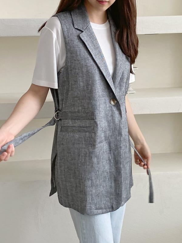 LOUISA - Korean Children Fashion - #Kfashion4kids - Le Gi Linen Vest - 2