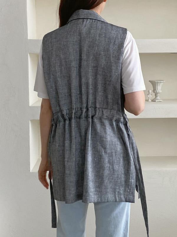 LOUISA - Korean Children Fashion - #Kfashion4kids - Le Gi Linen Vest - 3