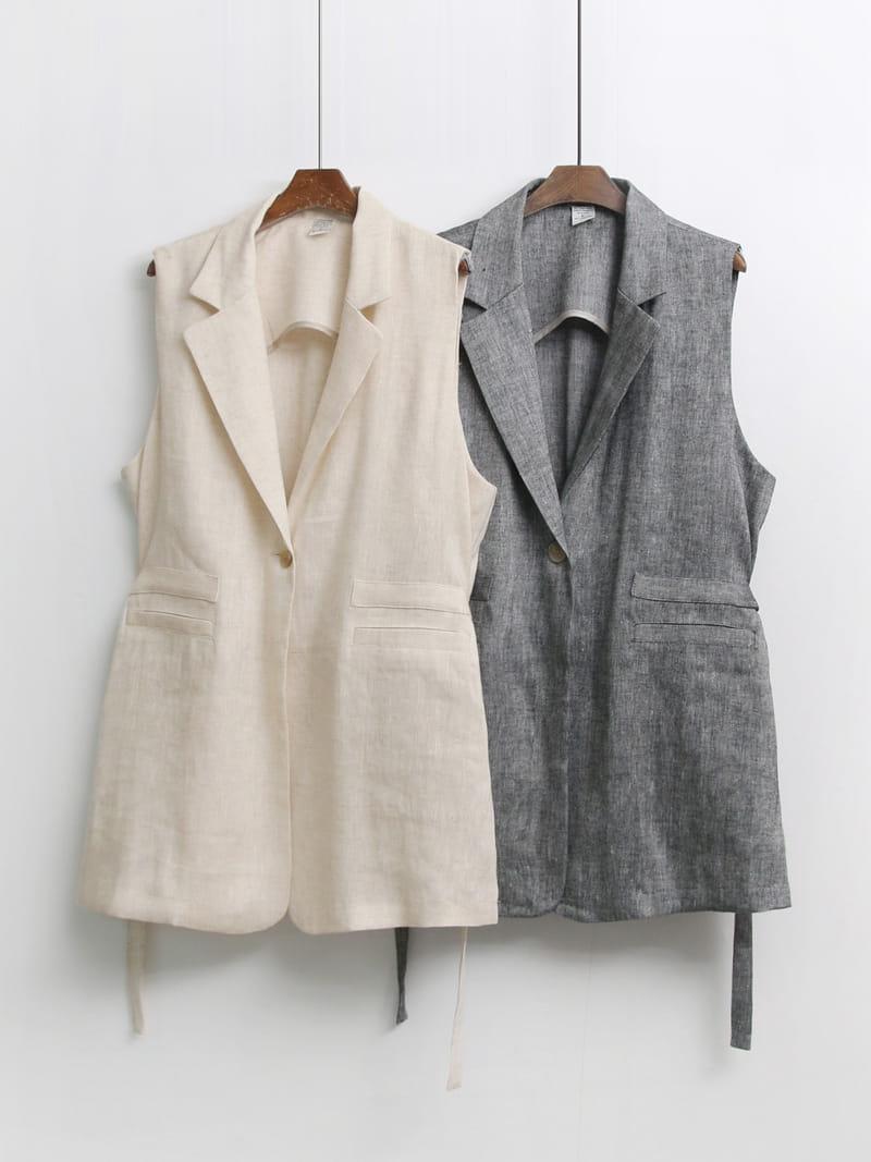 LOUISA - Korean Children Fashion - #Kfashion4kids - Le Gi Linen Vest - 4