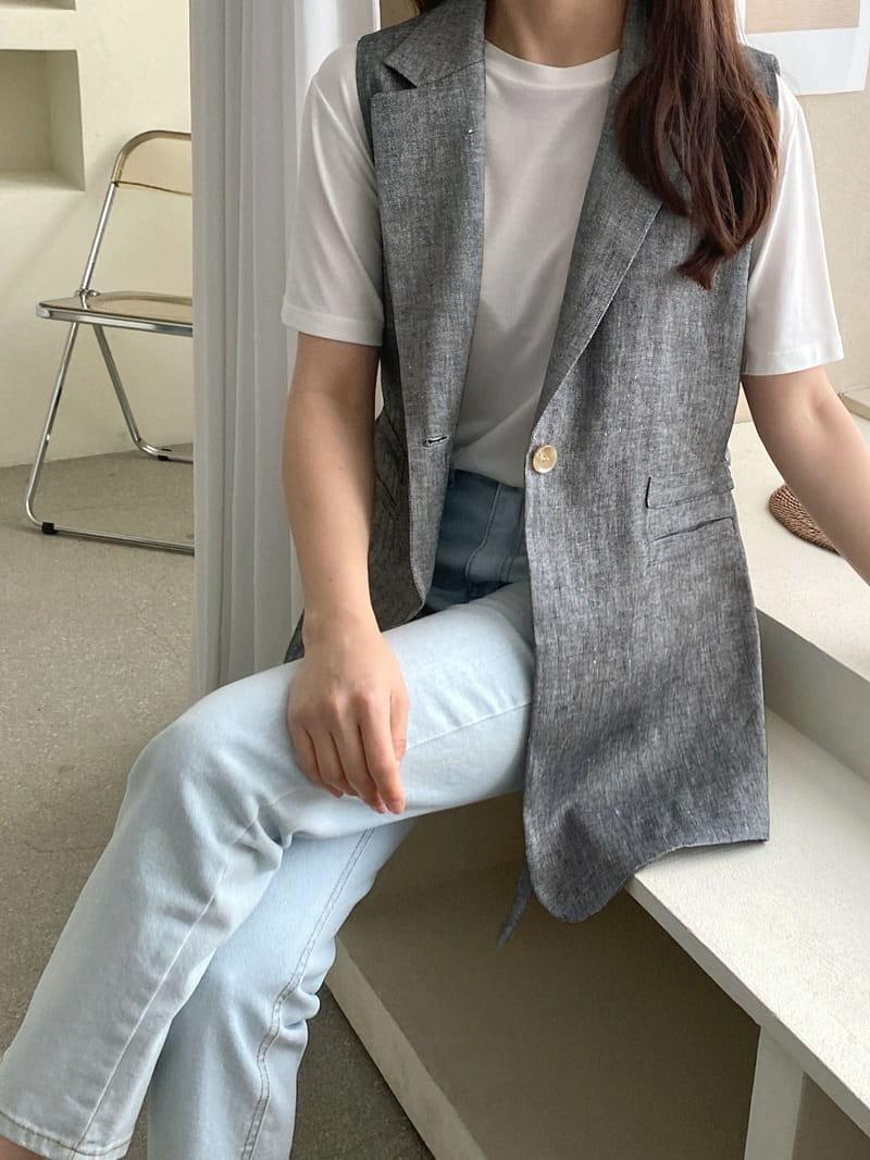 LOUISA - BRAND - Korean Children Fashion - #Kfashion4kids - Le Gi Linen Vest